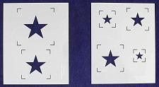 Buy Single Star Stencils - 2 Piece Set - 8 x 10