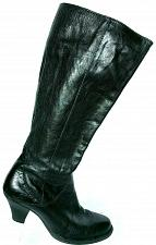 Buy Born Womens Navi Black Leather Knee High Side Zip Boots Size 8 M