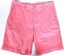 Buy Vineyard Vines Men's Casual Breaker Shorts Size 35 Solid Coral Flat Front