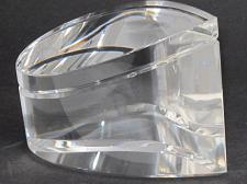 Buy Cut Glass art wave optical sculpture. One of a kind signed
