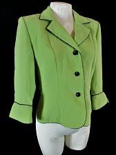 Buy DRESSBARN womens Sz 6 3/4 sleeve green BUTTON DOWN jacket (Y)P