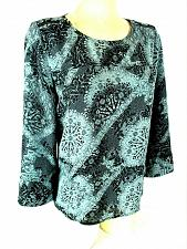 Buy Maurices womens Small 3/4 sleeve blue black ZIPPER shoulder top (X)PMTD