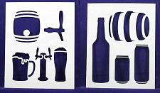 "Buy Beer -2 Piece Stencil Set 14 Mil 8"" X 10"" Painting /Crafts/ Templates"