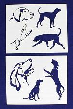 """Buy Blue Tic Hound Dog Stencils-Mylar 2 Pieces of 14 Mil 8"""" X 10"""" - Painting /Crafts"""