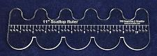 """Buy 11"""" Scallop Ruler --Template 1/4""""- Clear Acrylic - Quilting/sewing"""