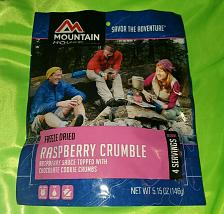 Buy Mountain House Raspberry Crumble With Chocolate Cookie Crumbs 5.15oz. 2 servings