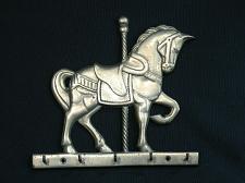 Buy Vintage Brass Carousel Horse Key Holder Rack 5 Hooks
