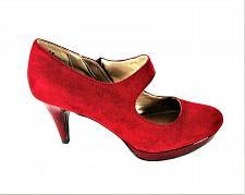 Buy Bandolino Red Faux Suede Side Zipper Mary Jane Heels Shoes Women's 8 M (SW9)
