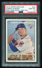 Buy 2016 TOPPS HERITAGE REAL ONE RED AUTO ALBERT ALMORA PSA 10 GEM MINT (28498569)