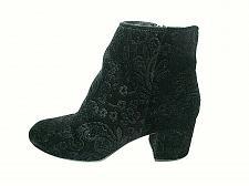 Buy Zigi soho Black Faux Suede Floral Zip Up Ankle Boots Shoes Women's 7.5 (SW18)