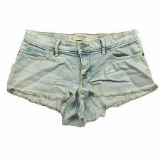 Buy Abercrombie & Fitch Womens Denim Booty Shorts 00 Light Wash Raw Hem Stretch