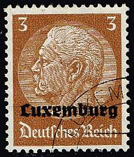 Buy Luxembourg #N1 Hindenburg - German Occupation; Used (4Stars) |LUXN01-01XRP