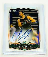 Buy NFL ARTHUR LYNCH MIAMI DOLPHINS AUTOGRAPHED 2014 TOPPS CHROME RC MINT