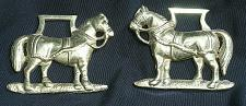Buy Vintage Horse Brass Matching PAIR Harness Medallion Ornament Antique