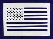 Buy Us Flag Stencil - Straight-14 mil Mylar- Painting /Crafts/ Templates