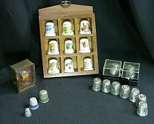 Buy LOT of Thimbles with Holder Bird Butterfly Car God Child's Reesor's Pewter China