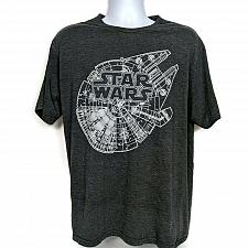 Buy Star Wars Mens Millennium Falcon T-Shirt Size XL Short Sleeve Crew Neck