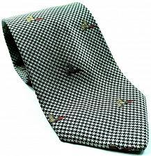 Buy Lord & Taylor Duck Bird Houndstooth Print Novelty Silk Necktie