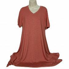 Buy LOGO Lounge by Lori Goldstein Jersey Dress Size Medium Red Orange
