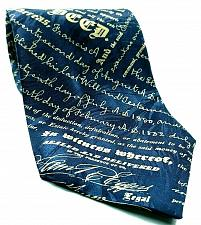Buy Museum Artifacts Mortgage Deed Lending Documents Writing Novelty Silk Tie