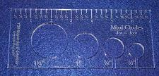 """Buy 4 Mini Circles Template for 1/4"""" Foot Clear with Ruler 1/4"""" Thick"""