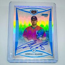 Buy MLB ADRIAN ALANIZ NATIONALS AUTOGRAPHED 2009 BOWMAN CHROME REFRACTOR /500 MNT