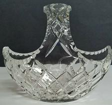 Buy Hand cut crystal basket