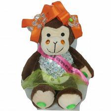 "Buy Dancer Monkey Sequin Tutu Jewels Bows Plush Stuffed Toy 14"""