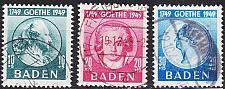 Buy GERMANY Alliiert Franz. Zone [Baden] MiNr 0047-49 ( O/used ) [01] geprüft