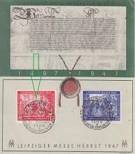 Buy GERMANY Alliiert Gemeinschaft [1945] MiNr 0965-66 Gedenkblatt ( O/used ) [01] Messe P