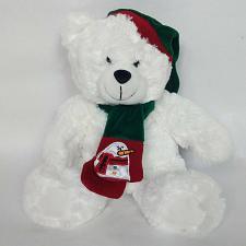 "Buy Schnucks Christmas Teddy Bear Plush Scarf Hat Stuffed Animal 11"""