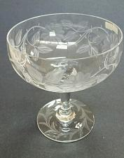 Buy Wheel engraved glass compote floral