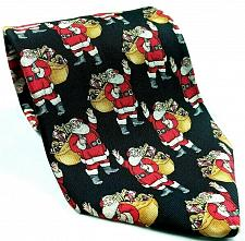 Buy Hallmark Santa Claus Kris Kringle Saint Nick Christmas Holiday Novelty Silk Tie