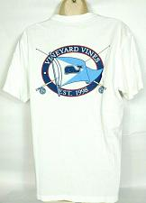 Buy Vineyard Vines Women's Graphic T-Shirt XS Whale Logo Flag Solid White Crew Neck