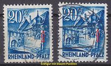 Buy GERMANY Alliiert Franz. Zone [RheinlPfalz] MiNr 0007 y a,b I ( O/used ) [01]