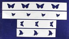Buy Butterfly Border 4 Piece Stencil Set-Border-14 Mil -Painting /Crafts/ Templates