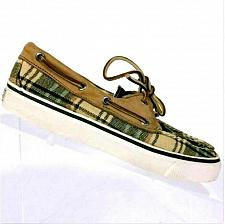 Buy Sperry Top-Sider Womens Plaid Canvas Boat Deck Shoes 6M