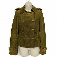 Buy Juicy Couture Jeans Womens Corduroy Jacket Size Petite Button Down Brown