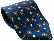 Buy Tommy Hilfiger Fishing Lure Coat Of Arms Crest Stars Silk Necktie