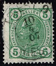 Buy Austria #90 Emperor Franz Josef; Used (1Stars) |AUT0090-02