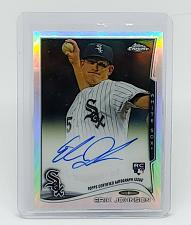 Buy MLB ERIC JOHNSON WHITE SOX AUTOGRAPHED A 2014 TOPPS CHROME ROOKIE REFRACTOR /499