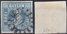 Buy GERMANY Bayern Bavaria [1849] MiNr 0002 I a ( O/used ) [01]