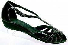 Buy Clarks Women's Black Patent Leather D 'Orsay Wedge Sandal Shoe Size 8 M