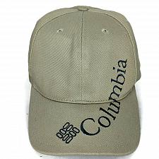 Buy Columbia Mens Beige Spellout Snapback Baseball Cap Hat Adjustable One Size