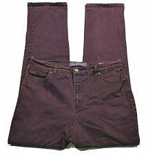 Buy Gloria Vanderbilt Amanda Straight Leg Jeans Size 12 Red Wash Stretch Denim