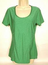 Buy Eddie Bauer Women's Active Wear T-Shirt Small Green Solid Short Sleeve