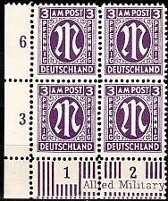 Buy GERMANY Alliiert AmBri [1945] MiNr 0017 a D ( **/mnh ) [01] 4er