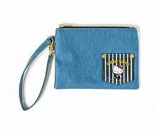Buy New Hello Kitty Denim Flat Pouch Jean Wallet Free Shipping US
