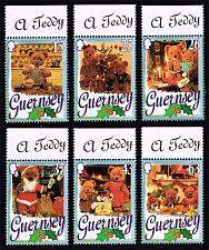 Buy Guernsey #609-614 Teddy Bear Christmas Set of 6; MNH (5Stars) |GUE0614set-01XRP