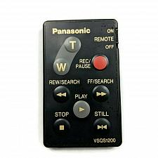 Buy Genuine Panasonic Camcorder Remote Control VSQS1200 Tested Working